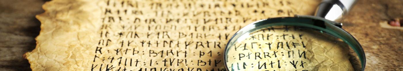 Hieroglyphen auf Pergament